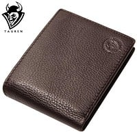 Leather Coffee Wallet For Office Man Men's Vintage Wallets Coin Purse