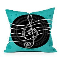 Lisa Argyropoulos Solo Aquatic Blues Throw Pillow