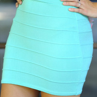Banded With Love Skirt: Mint   Hope's