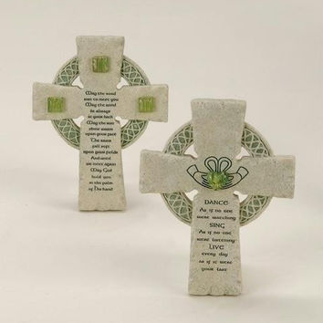 4 Wall Crosses - Irish Blessing
