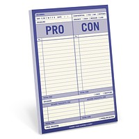 Pro/Con Decision Making Notepad Stationery