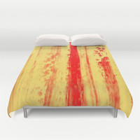 Abstract Urban Rain 3 cases Duvet Cover by Corbin Henry