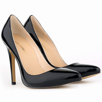 Sexy Pointed Toe High Heels black  Pumps