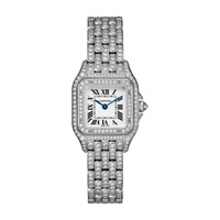 Shop Luxury Jewelry - Cartier Panthère de Cartier Small White Gold and Diamond Watch | Editorialist