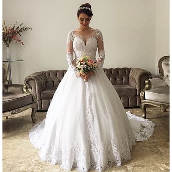 New Style Wedding Dress Long Sleeves, Bridal Gown ,Dresses For Brides, PM0045