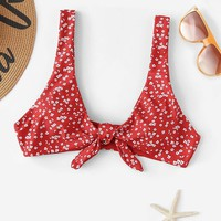 Floral Knot Swimming Top