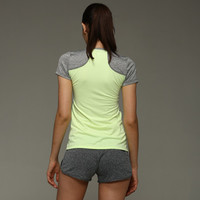 SIMPLE - Women Mixed Color Short Sleeve Sport Suit Fitness Sportswear Stretch Exercise Yoga Top T-shirt b3969