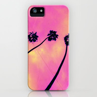 Pink Palm Trees iPhone Case by Urban Dreams Photography