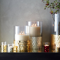 Faceted Metallic Hurricane Collection - Gold