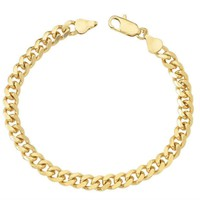 10k Yellow Gold Miami Cuban Link Bracelet, For Men/Women, Franco, Rope, Curb