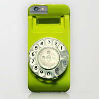 OLD PHONE - LIME EDITION - for iphone iPhone & iPod Case by Simone Morana Cyla