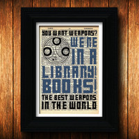 Dr Who art print - Books - dr who, geek art, print, poster, wall decor, whovian, tardis, sonic screwdriver, dalek, circular gallifreyan
