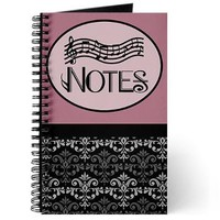 Notes Music Practice Book Journal> MUSIC PRACTICE NOTEBOOKS AND JOURNALS> www.cafepress.com/milestonesmusic - Music Tshirts