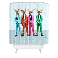 Coco de Paris Rock and Roll Deers Shower Curtain
