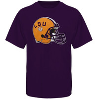 LSU Tigers Helmet LSU Football T-Shirt - Purple