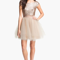 Trixxi Sequin & Tulle Party Dress (Juniors)
