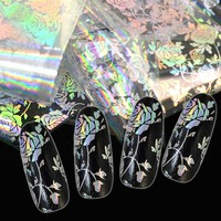 100*4cm Muticolor Clear Rose Design Nail Art Water Transfer Foils Manicure Creative Decals Adhesive Glue Stickers  LT07