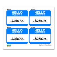 Jaxon Hello My Name Is - Sheet of 4 Stickers
