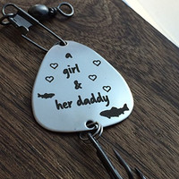A Girl & Her Daddy Fishing LureFather Daughter Gift A girl and Her Daddy Fishing Lure Gift Fishing Lure Christmas Gift Fishing Gift Father's Day Lure