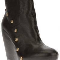 VIC MATIE stud detail wedge ankle boot