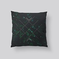 Throw Pillows for Couches / Green Stitch by Leftfield_Corn