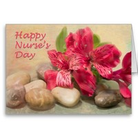 Happy Nurses Day Red Lily of the Nile Card