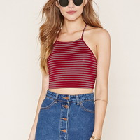Striped Tie-Back Cropped Cami