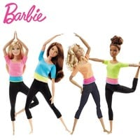 Original Barbie Brand American Girl Dolls 6 Style Yoga Gymnas Joints Movement Toys For Children The Girl A Birthday Gift Bonecas