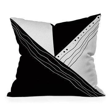 Viviana Gonzalez Black and white collection 02 Throw Pillow