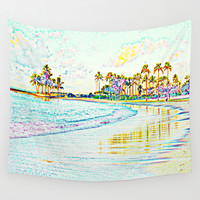 In the beach Wall Tapestry by Haroulita