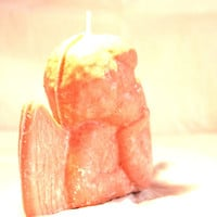 Angel 4x6 Candle, Pick your fragrance! Natural Sustainable Palm Wax Easter Spring Decoration Kids Children