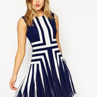 ASOS Panelled Fit And Flare Mini Dress