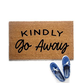 Kindly Go Away Doormat