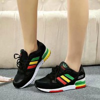 """""""Adidas """" Sport Casual Multicolor Stripe Unisex Sneakers Couple Running Shoes"""