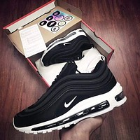 NIKE AIR MAX 97 Popular Women Men Casual Sports Running Shoes Couple Shoes Black I