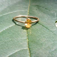 Citrine Solitaire in 14kt GF