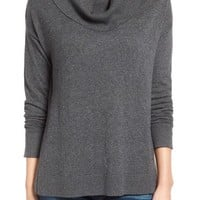 Press Split Hem Cowl Neck Pullover | Nordstrom