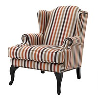 Striped Wingback Chair | Eichholtz Frank Sinatra