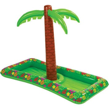 Palm Tree Inflatable Buffet Cooler 4ft- Party City