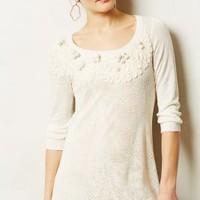 Abbey Pointelle Pullover by Floreat Ivory Xl Sweaters