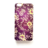 iPhone 6 Plus Case Vintage Floral iPhone 6 Plus Soft Case Purple Wallpaper Back Cover Silicone For iPhone 6 Slim Design Case Flowers 1289