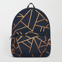 Copper and Midnight Navy Backpack by elisabethfredriksson