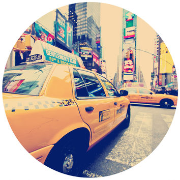 Cabbie Circle Wall Decal