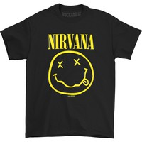 Nirvana Men's  Smile T-shirt Black