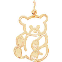 14K Yellow Gold Teddy Bear Pendant, Teddy Bear Pendant, Teddy Bear Jewelry, Bear Pendant, Bear Jewelry, Gold Teddy Bear, Teddy Bear, Bear