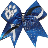 Custom Texas Size, Standard Size, Youth Size, and Pig Tail Hair Bows for Cheer / Dance by POWERBows - 9234
