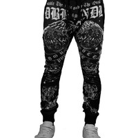 Anarchy Sublimation Double Needle Printed Pants-8610