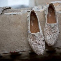 Classic Crochet Slip-Ons by Toms - $65