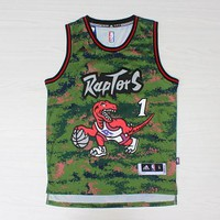 Toronto Raptors #1 Tracy McGrady Camo Swingman Jersey