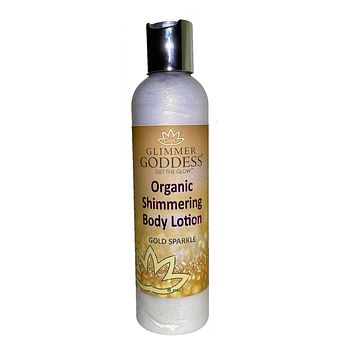 Organic Gold Shimmer Body Lotion -Sparkle For All Skin Types